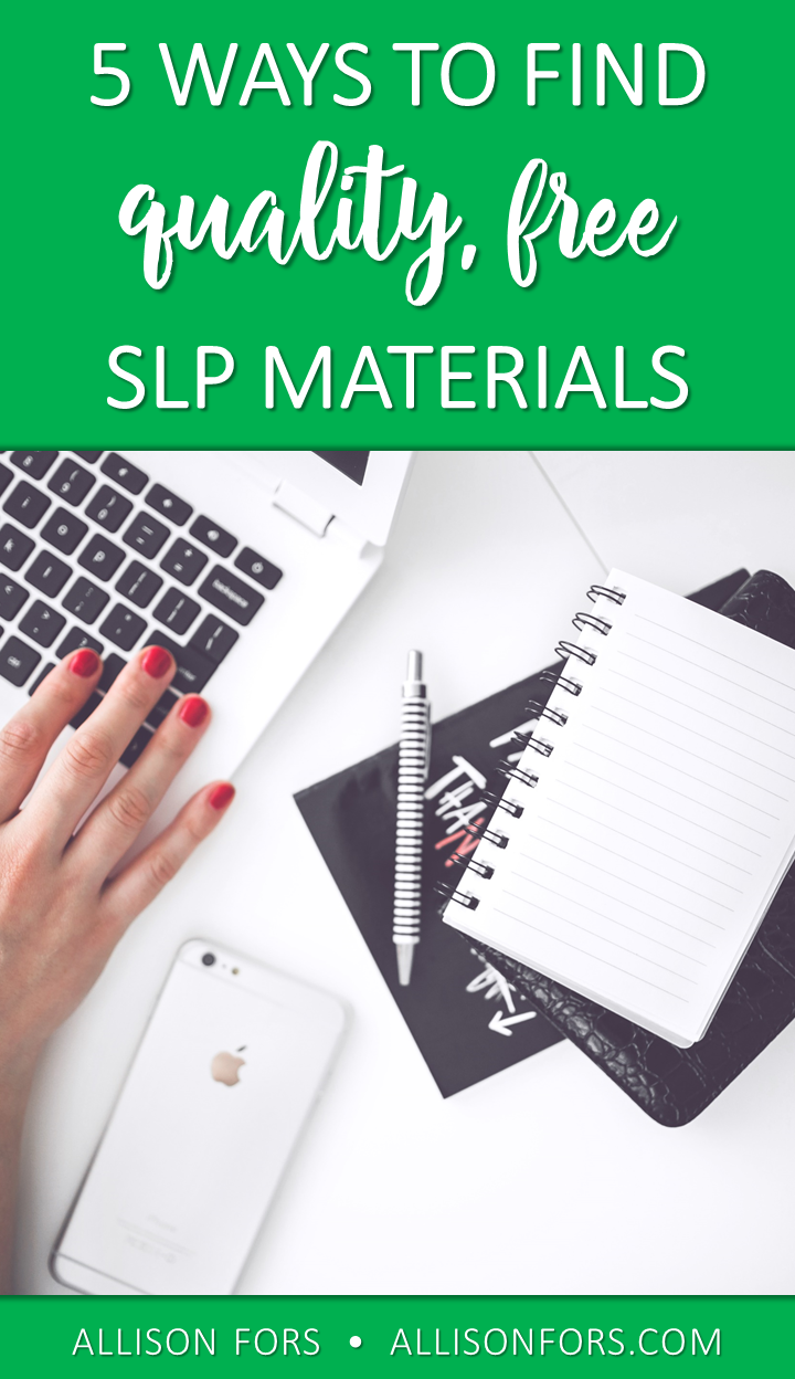 5 Ways to Find Quality, Free SLP Materials