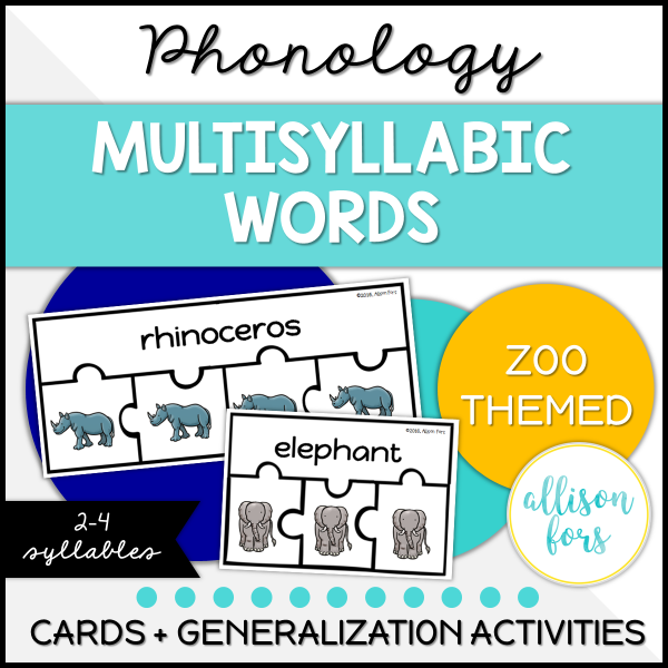 multisyllabic words speech therapy