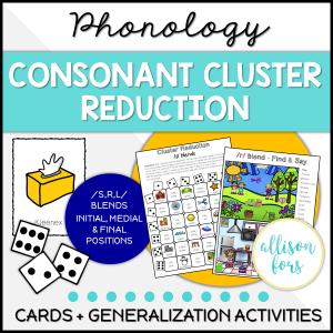 consonant cluster reduction