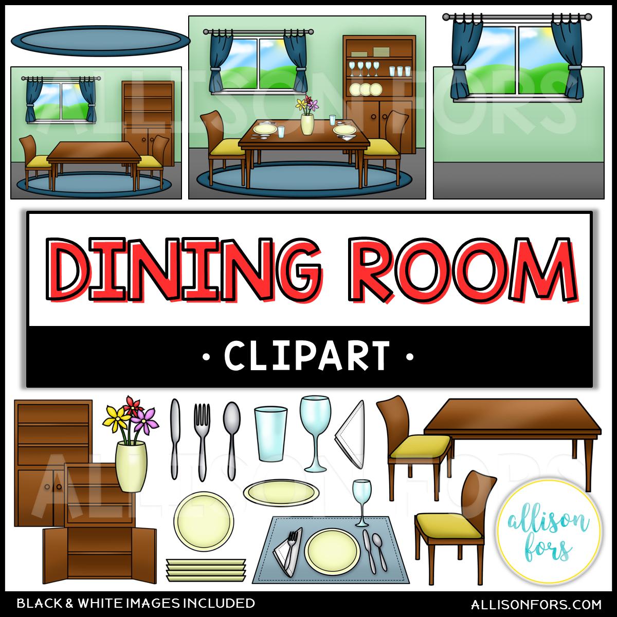 House: Dining Room Clip Art - Allison Fors