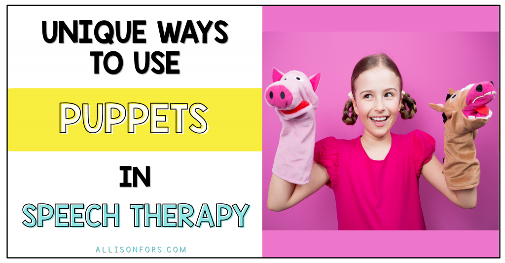 puppets in speech therapy