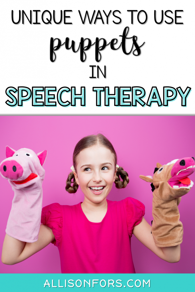 puppets speech therapy