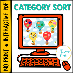 categories speech therapy
