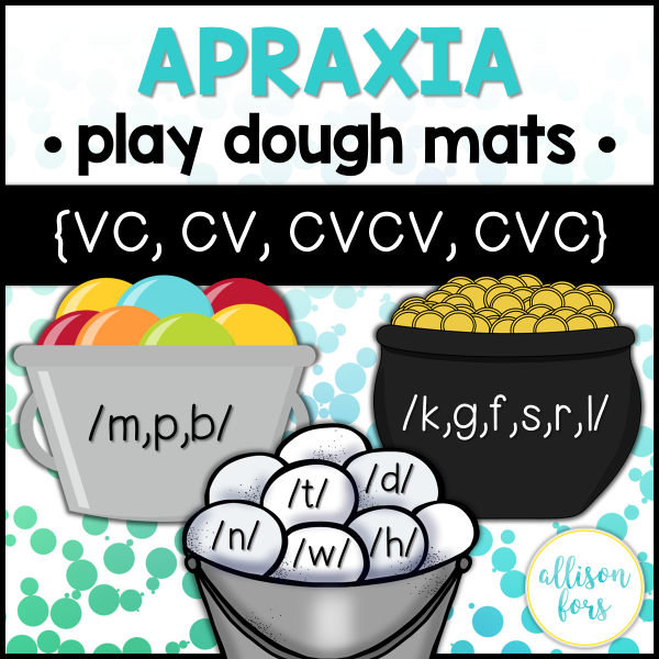 apraxia speech therapy bundle