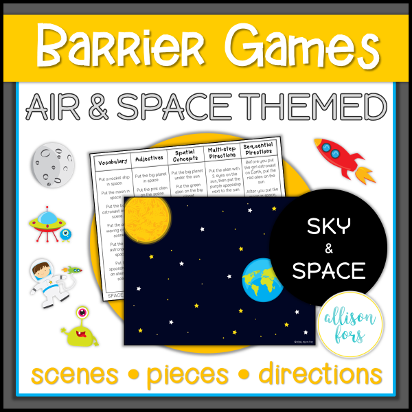 Air Space barrier games speech therapy