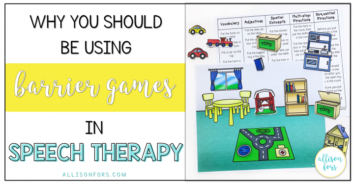 barrier games in speech therapy