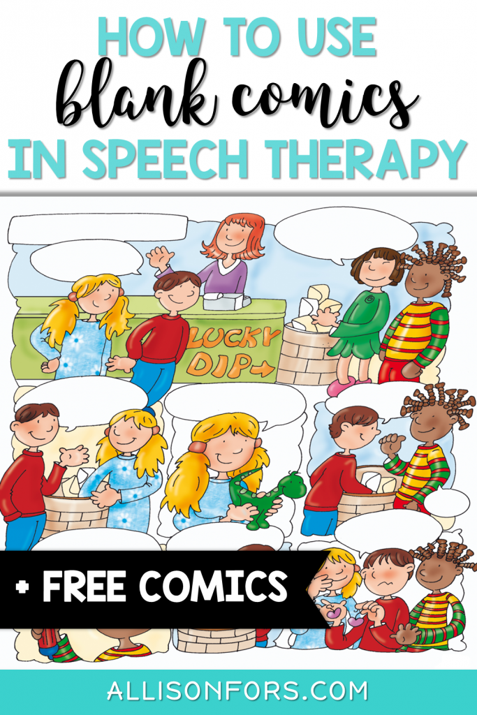 blank comics speech therapy