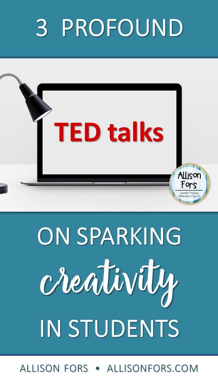 TED talk on creativity