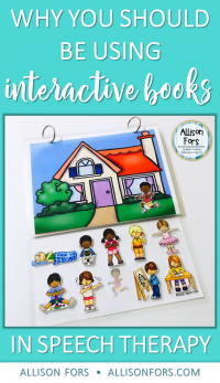 Why you should be using Interactive Books in Speech Therapy (+ a freebie)