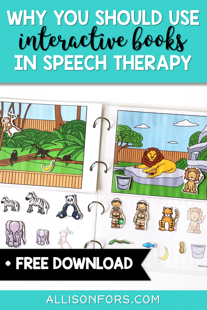 speech therapy interactive books