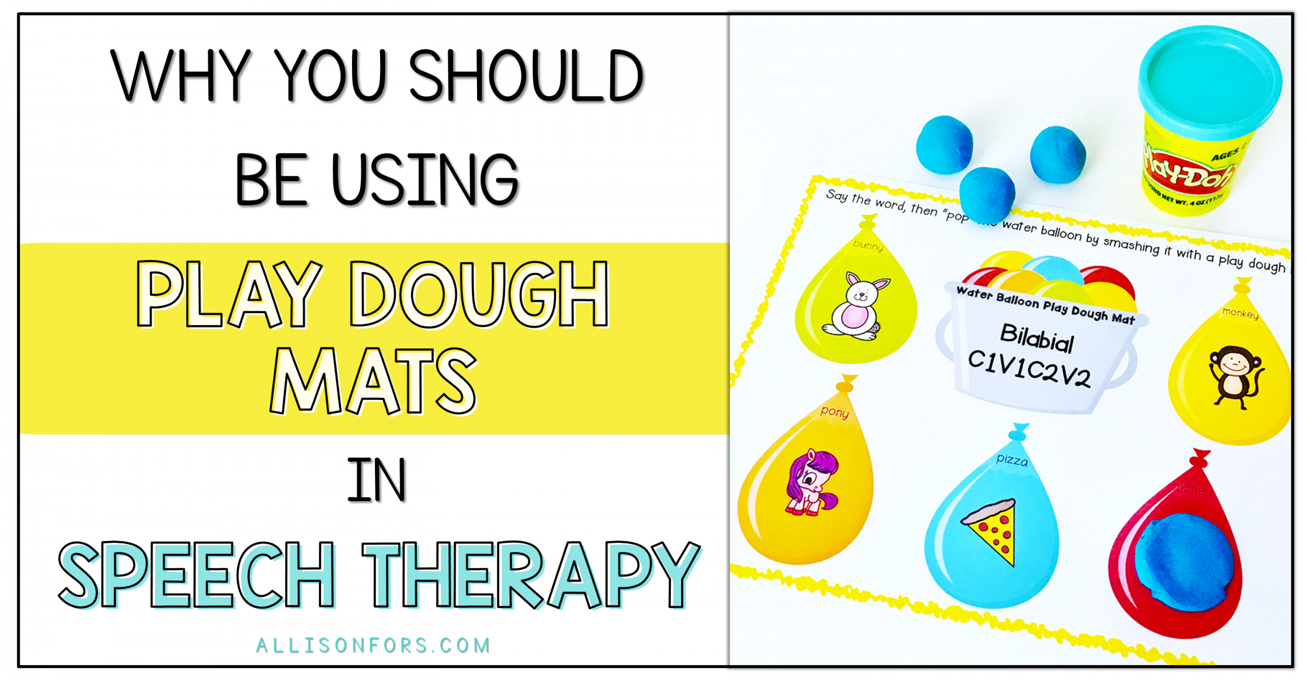 Why You Should Be Using Play Dough Mats in Speech Therapy