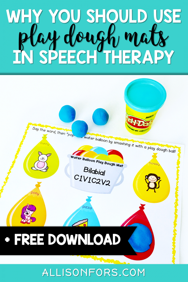 speech therapy play dough mats