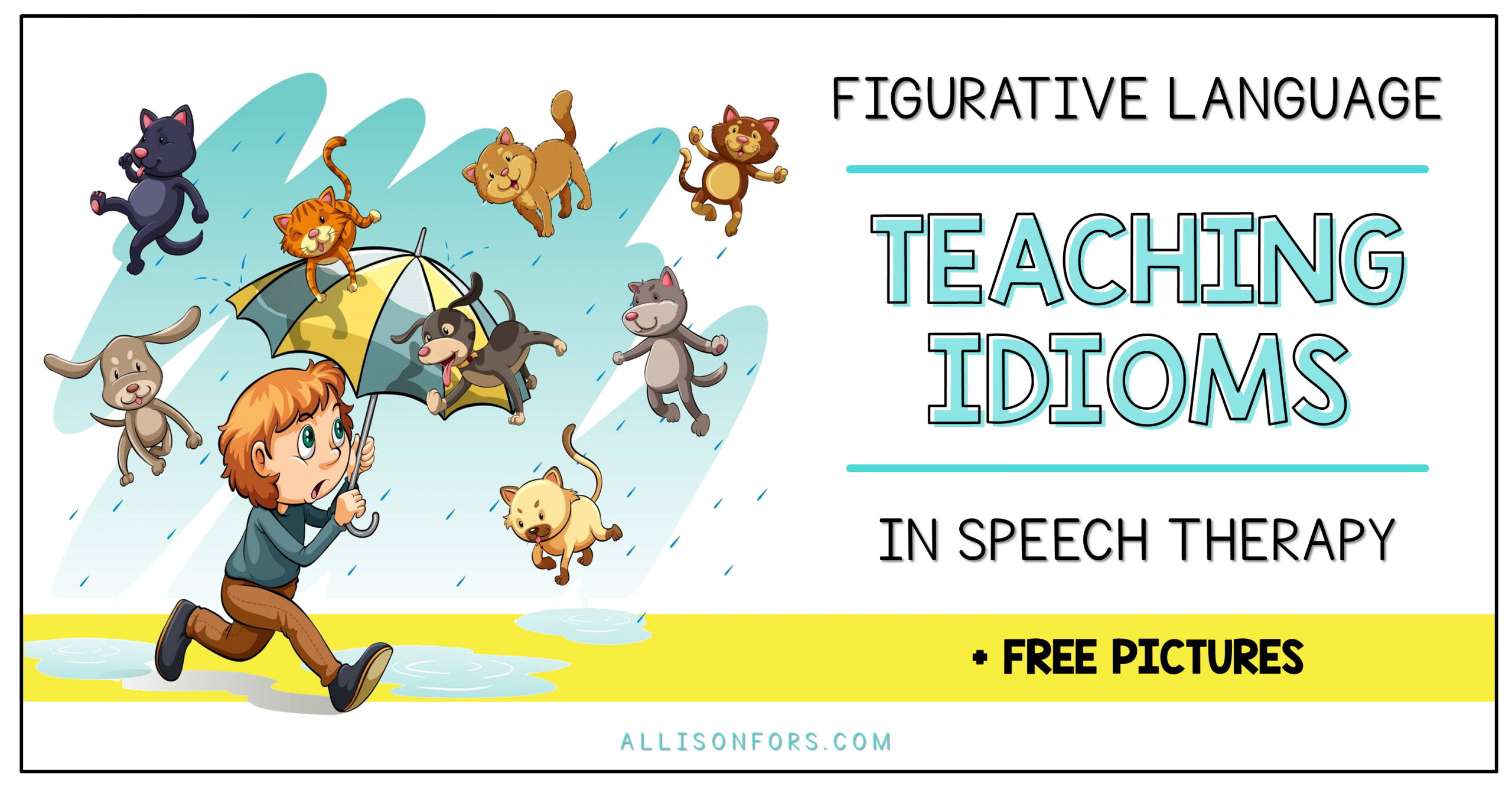 Figurative Language: Idioms in Speech Therapy