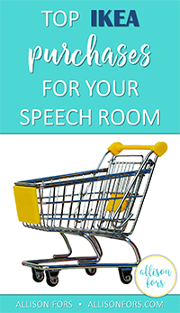 Top IKEA Purchases for your Speech Room