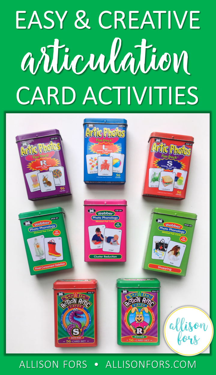 ARTICULATION CARD ACTIVITIES