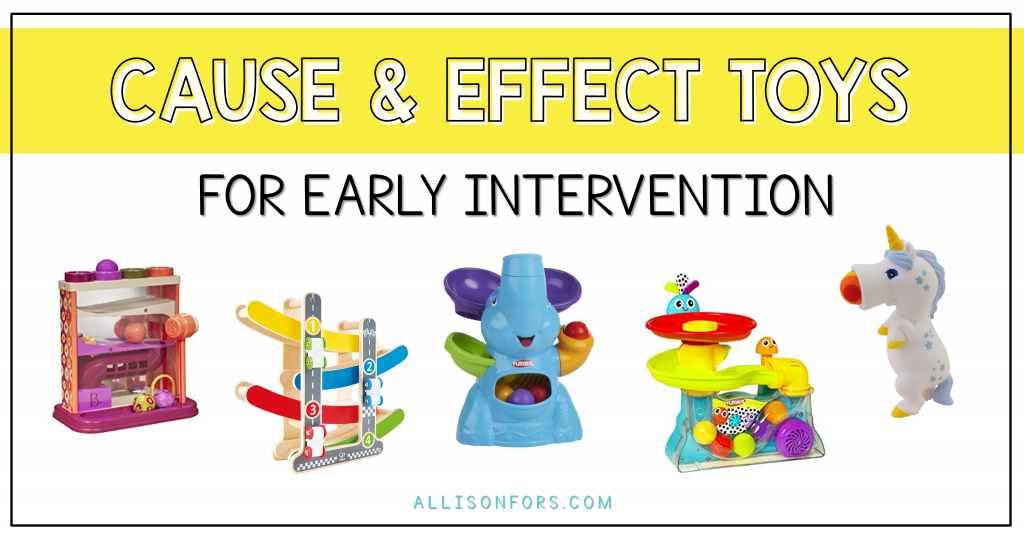 cause effect toys speech therapy