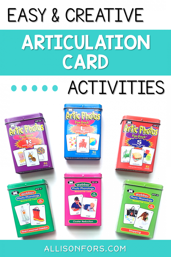 speech therapy articulation card