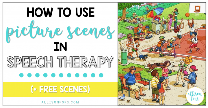 how to use picture scenes in speech therapy