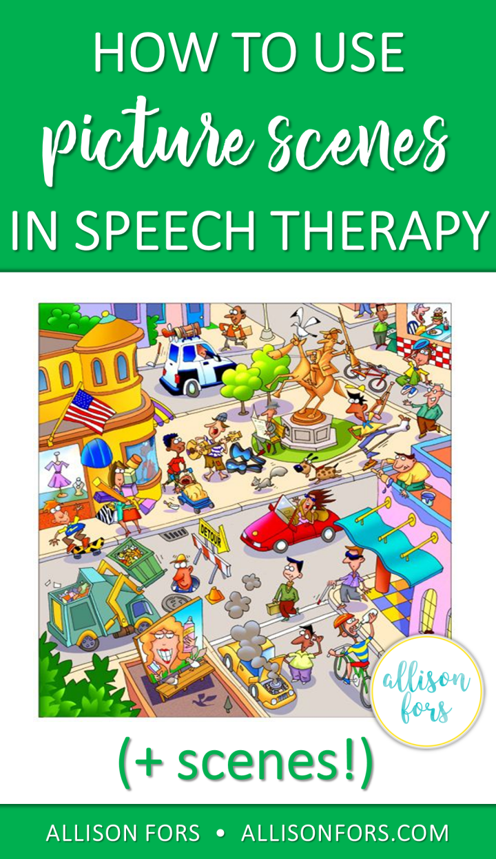 graphic about Free Printable Speech Therapy Materials called How in the direction of Employ the service of Think about Scenes in just Speech Cure (+ no cost scenes