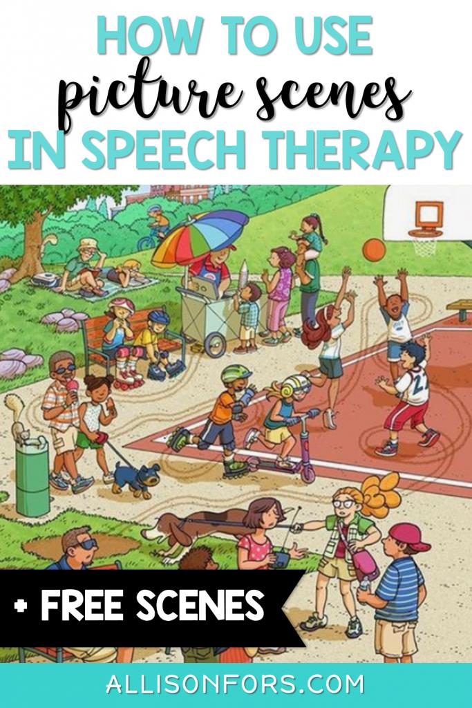 picture scenes speech therapy