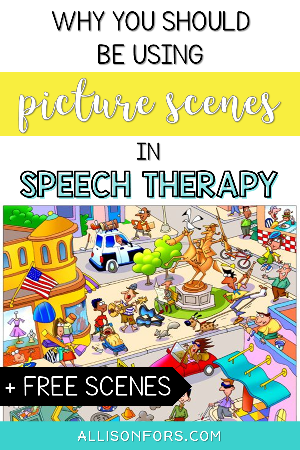 picture scenes speech therapy - Allison Fors