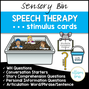 speech therapy cards for common goals