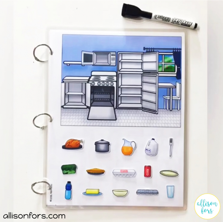 Kitchen Life Skills Interactive Book by Allison Fors