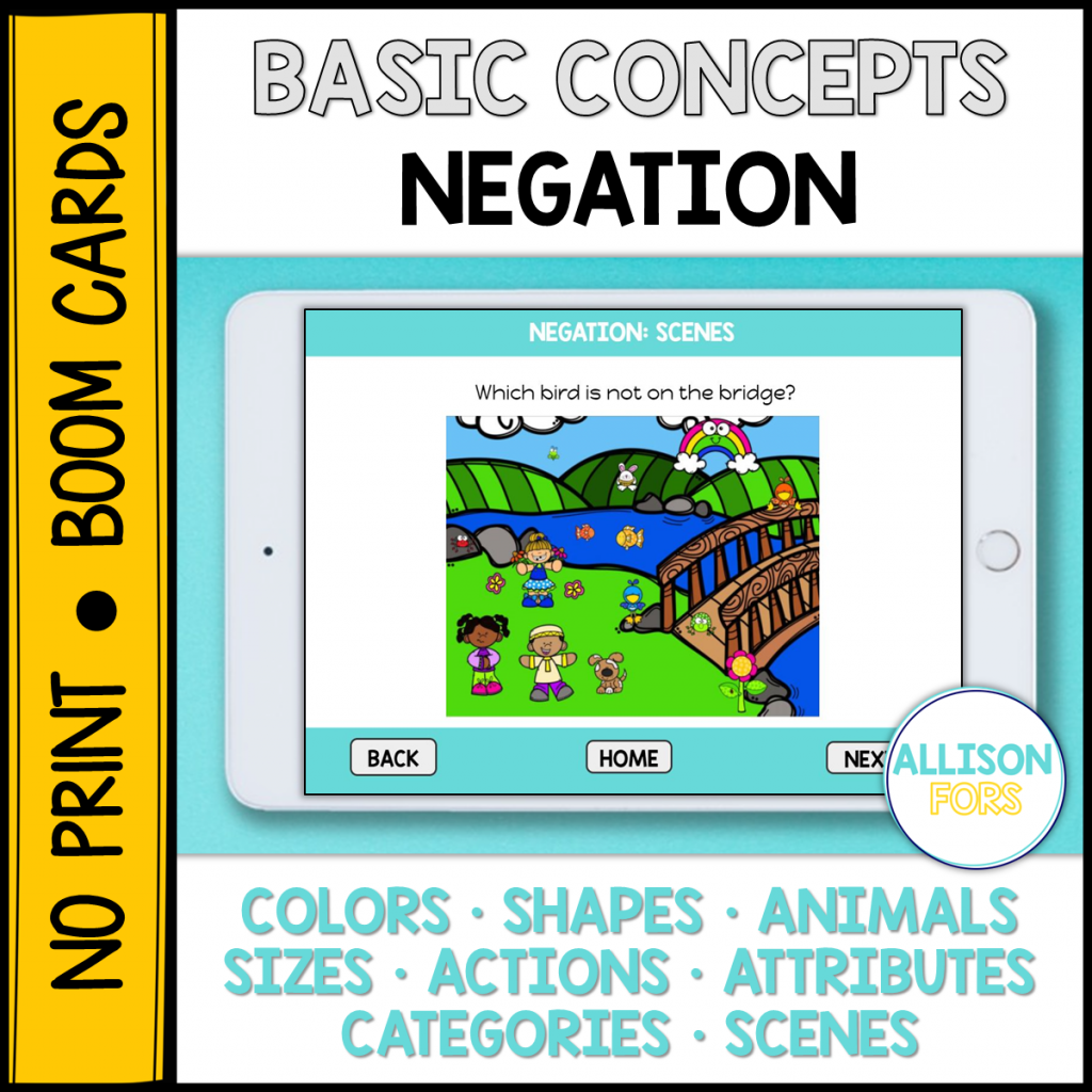negation speech therapy boom