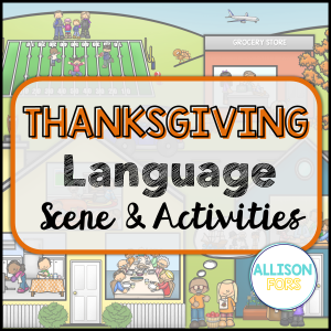 thanksgiving speech therapy activities