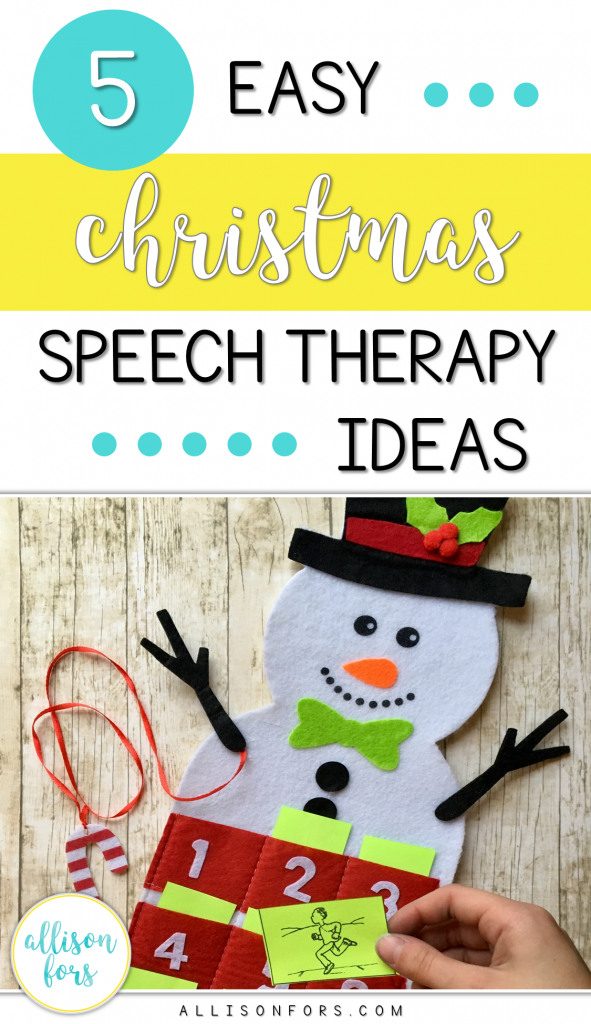 5 Easy Christmas Speech Therapy Ideas