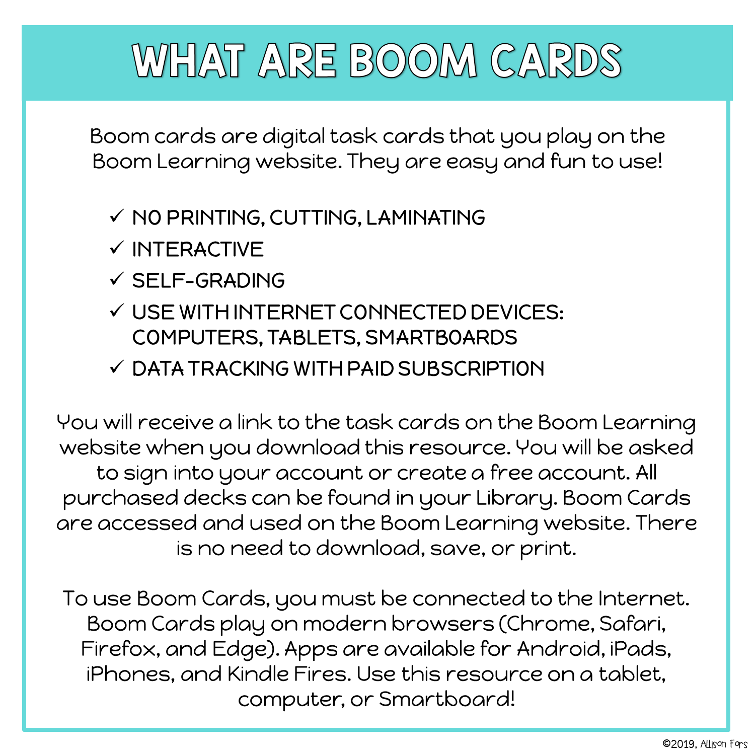 NO PRINT Boom Cards 5-6 Step Sequencing