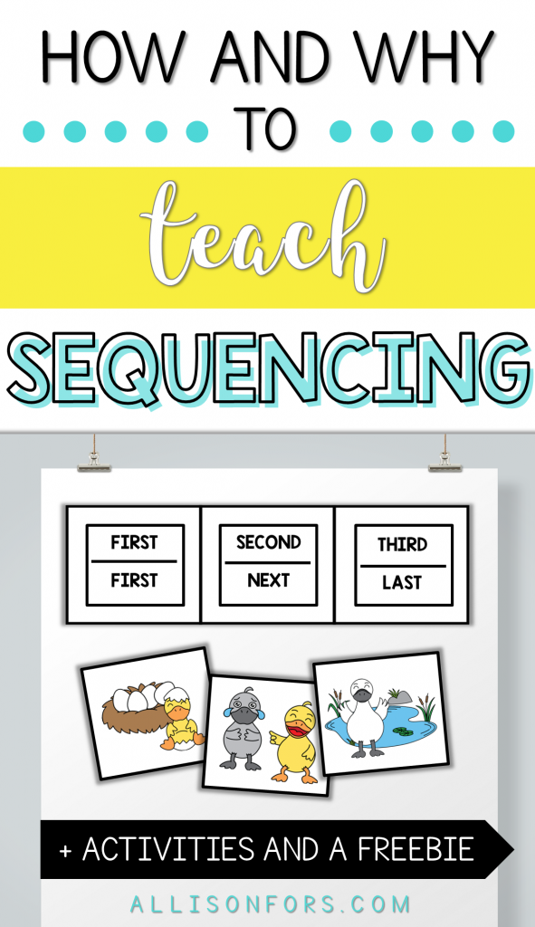 How and Why to Teach Sequencing Speech Therapy
