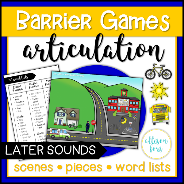 barrier games speech therapy articulation