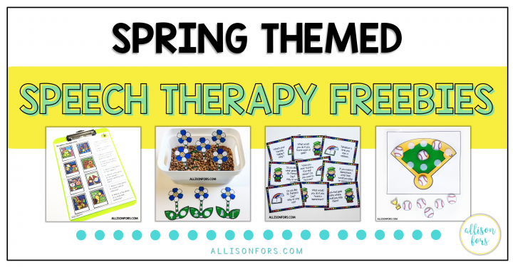 Free Spring Speech Therapy Activities
