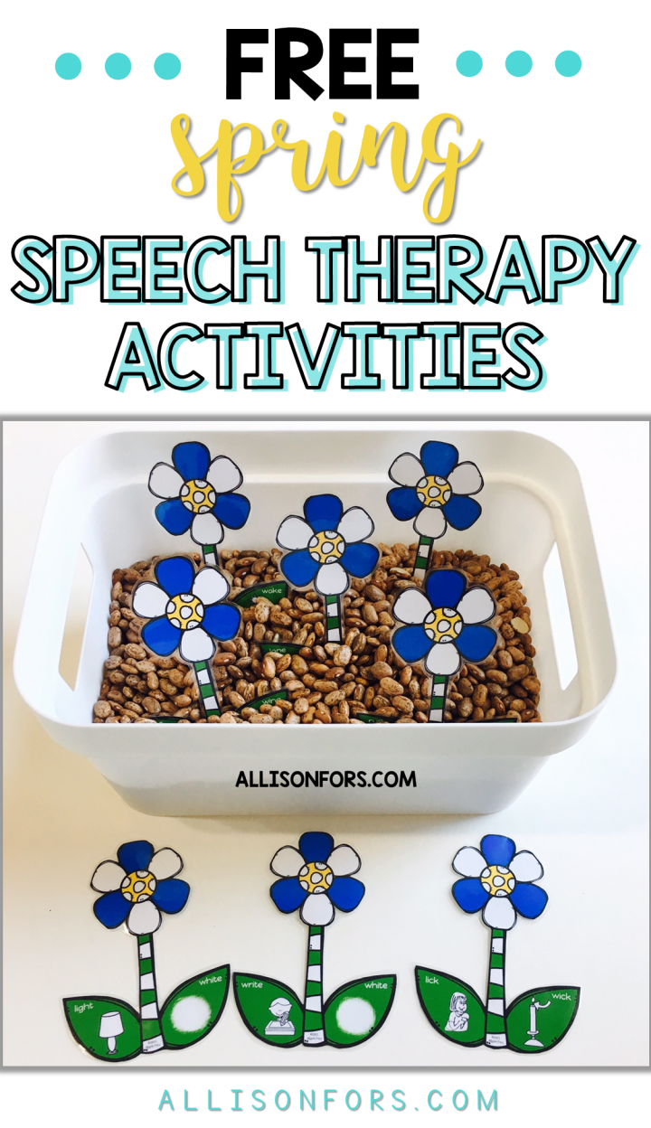Spring Speech Therapy Activities FREE