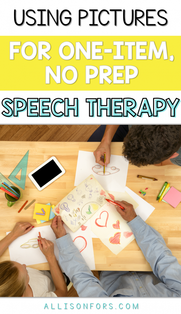 Using Pictures for One-Item, No-Prep Speech Therapy