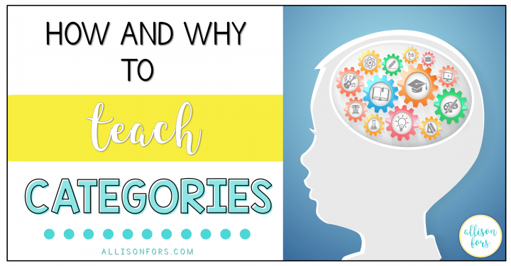 HOW AND WHY TO TEACH CATEGORIES IN SPEECH THERAPY