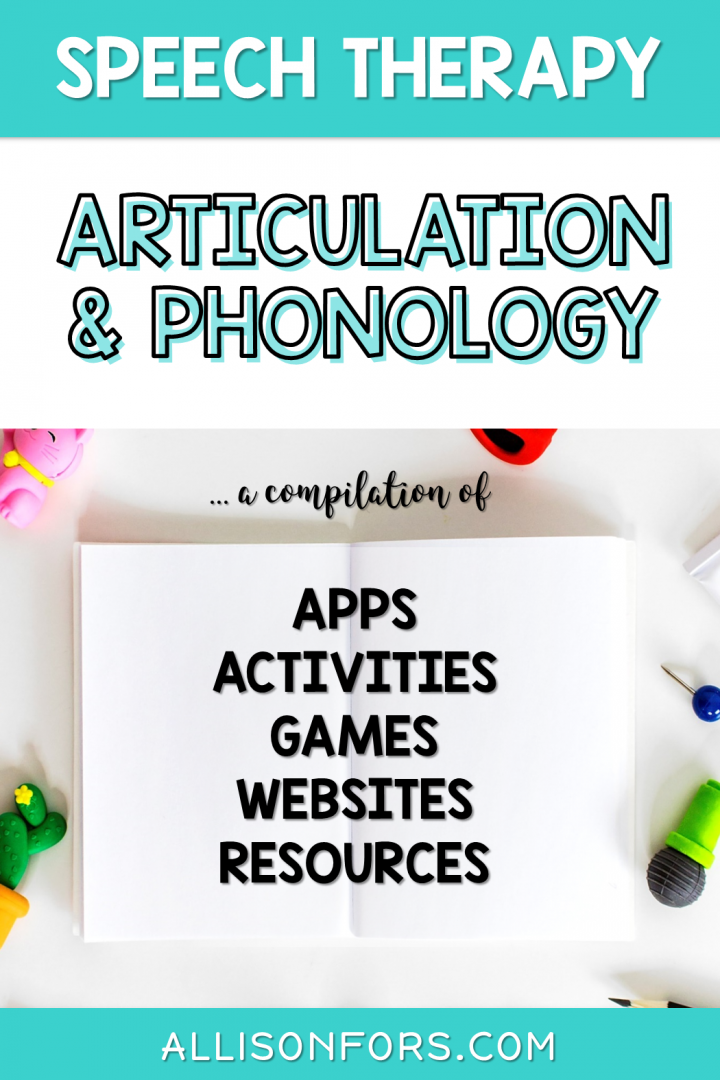 Articulation Phonology Speech Therapy