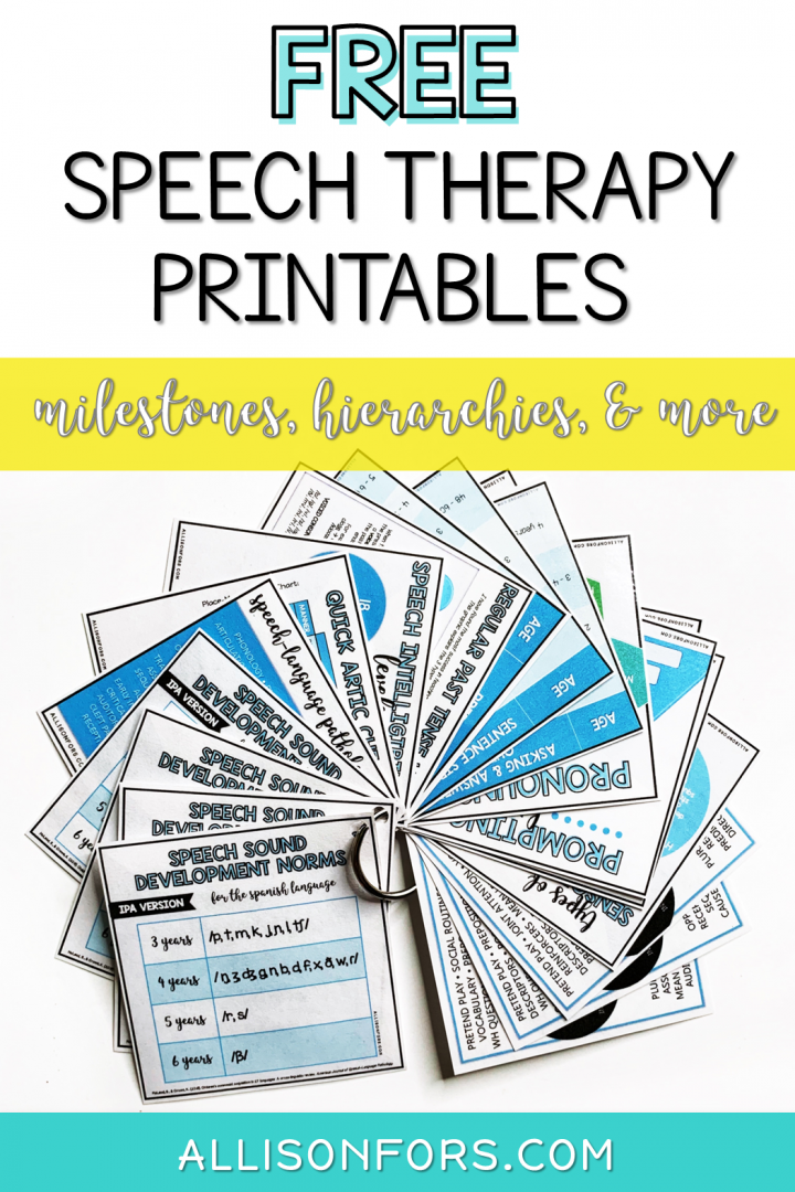 Free Speech Therapy Printables Handouts
