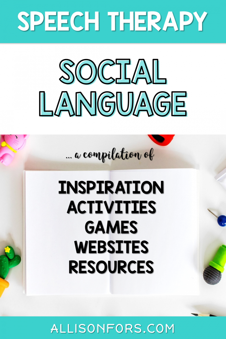 Social Skills Speech Therapy Ideas