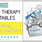 Free Speech Therapy Printables: Milestones, Hierarchies, and More!