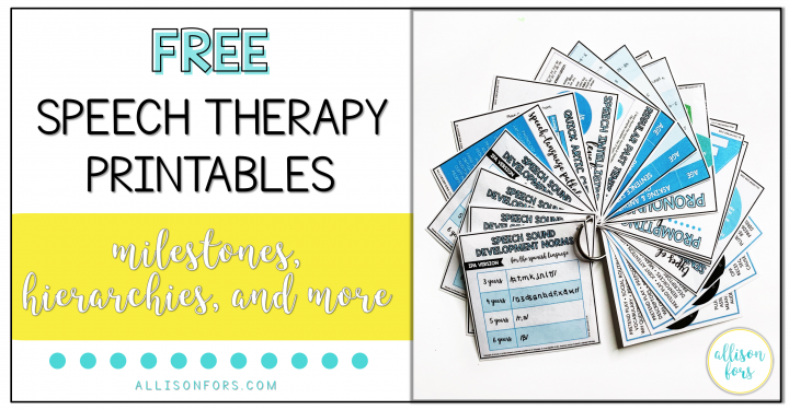 Speech Therapy Printables Free