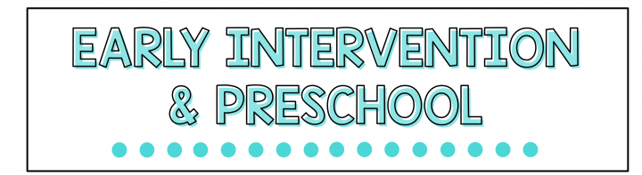 early interention and preschool speech therapy