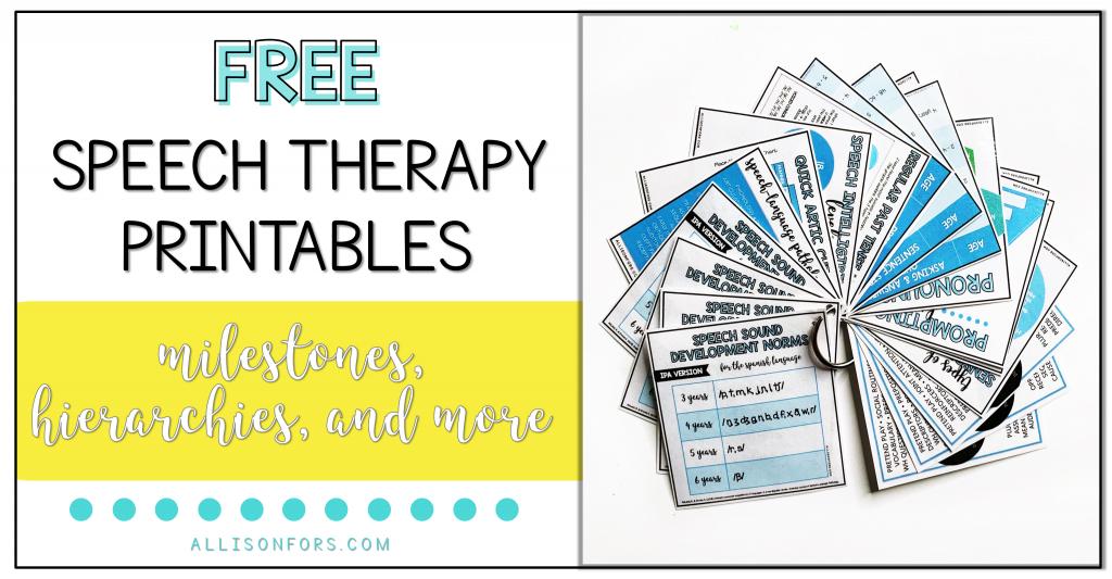 speech therapy handouts