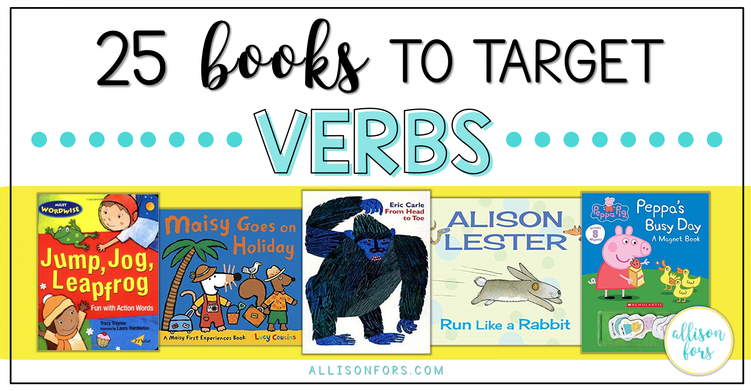 25 Books to Target Verbs in Speech Therapy