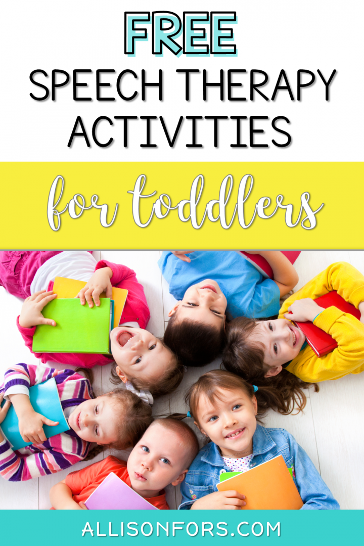 Free Speech Therapy Activities Toddlers