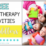 Free Speech Therapy Activities for Toddlers