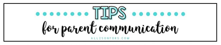 tips parent communication