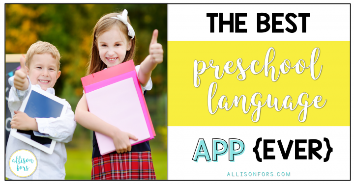 The Best Preschool Language App EVER