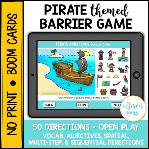 pirate barrier games speech therapy